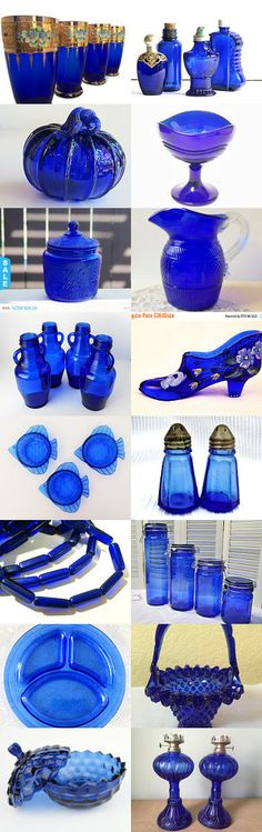 Cobalt Glass by T Tumbleweed on Etsy--Pinned+with+TreasuryPin.com Treasury Pin #etsy #treasury #glass #blue