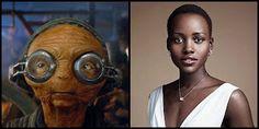 Lupita Nyong'o interpreta a Maz Kanata pirata y propietaria de un castillo que recibe, contrabandistas, viajeros y gentes de la galaxia, pero lo más importante, es la mujer que custodia el sable de luz azul que había pertenecido a Anakin y Luke Skywalker anteriormente.