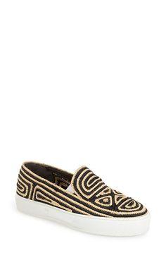 Robert Clergerie Woven Slip-On Sneaker (Women) available at #Nordstrom