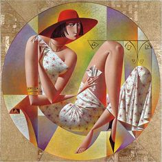 Vibrant Cubist Art Works and Illustrations by Georgy Kurasov Cubist Artists, Cubism Art, Figurative Kunst, Colorful Paintings, Russian Art, American Artists, Love Art, Contemporary Art, Modern Art