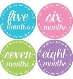 Arrow Baby Month Stickers Girls