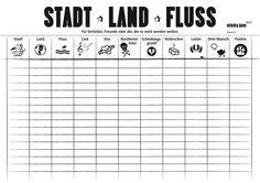 """Tischsets """"Stadt, Land, Fluss"""""""