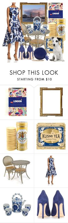 """""""Tea at five"""" by dmg555 ❤ liked on Polyvore featuring Kusmi Tea, MacKenzie-Childs, Adrianna Papell and Jimmy Choo"""