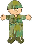 Camouflage Friends-- Cute project for all the proud kiddos of Military parents.