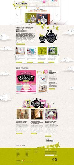 Unique Web Design, Clipper Teas (http://www.clipper-teas.com/) #WebDesign #Design (http://www.pinterest.com/aldenchong/)