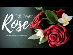 How to Make Felt Flower : Rose - YouTube