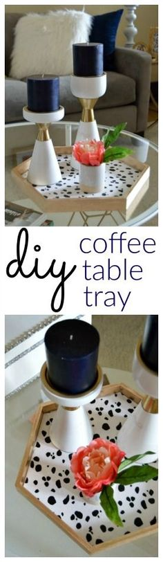 An easy tutorial on updating an old Coffee Table Tray! theblueeyeddove.com