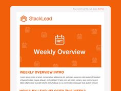 StackLead Weekly Overview