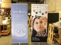 Here is a recent retractable banner stand project for Hologic.