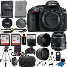 Nikon D5300 Cámara Réflex Digital + 3 Lentes Kit 18-55mm + 32gb increíble paquete de valor
