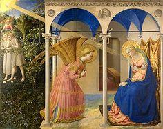 The Annunciation 1430-32 Tempera on wood, 194 x 194 cm Museo del Prado, Madrid