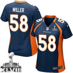 Von Miller Limited Jersey-80%OFF Nike Von Miller Limited Jersey at Broncos Shop. (Limited Nike Women's Von Miller Navy Blue Super Bowl XLVIII Jersey) Denver Broncos Alternate #58 NFL Easy Returns.