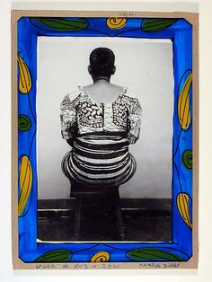 Back Views [Vues de Dos] Artist: Malick Sidibé (Malian, born 1936) Date: 2001 Geography: Mali Medium: Gelatin silver print in original frame of reverse-painted glass, tape, cardboard, string Dimensions: Overall: 8 3/8 x 6 in. (21.3 x 15.2 cm)