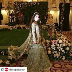 Hello! Brings you exclusive picture of #Zarpash at her engagement tonight in Islamabad She looks stunning in #Elan ensemble  #AlZar #EventbyQYT #hellopakistan @elanofficial