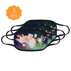 Pack of 3 washable floral mouthmask to help you slow down the spread of possible viruses. It covers your nose and mouth, blocking respiratory droplets and particles that might infect you and the people around you. Get them till this great deal lasts and lead by example in your community.   Wear your stylish mouthmask with pride.  #mouthmaskfashion #trendymouthmasks #mouthmasksonline #mouthmaskpacks #mouthmaskdeals #mascherabocca #mascaradelaboca #masquedebouche #mundmaske #mascaradeboca #covid Green Galaxy, Mouth Mask Fashion, Ideal Image, Spanish Fashion, Mask Online, Uk Fashion, Party Accessories, One Design, Mask For Kids
