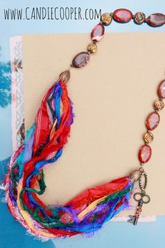 @Candie Cooper DIY Recycled Silk Necklace