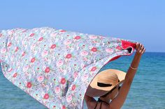 2 in 1 beach towel / Cotton beach towel / Pool towel /