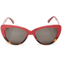 Prism Capri Rose and Tortoiseshell Sunglasses (¥49,170) ❤ liked on Polyvore featuring accessories, eyewear, sunglasses, tortoise shell glasses, red cat eye glasses, cateye glasses, cateye sunglasses and red glasses