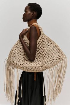 Macrame Patterns, Crochet Patterns, Fashion Bags, Fashion Accessories, Sac Week End, Ethno Style, Diy Sac, Sacs Design, Bag Crochet
