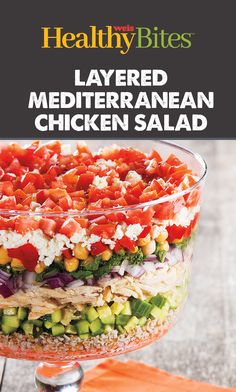 Put a twist on the traditional salad! Get the recipe on our website or app. Mediterranean Chicken, Nutritional Value, Chicken Salad, Cobb Salad, Salads, App, Traditional, Website, Healthy