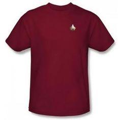 Star Trek TNG Command Emblem Red Adult Shirt CBS543-AT Shirt Size: XLarge  Price : $22.69 http://www.thinkfasttoys.com/Command-Emblem-Adult-Shirt-CBS543-AT/dp/B007ZTF8U6