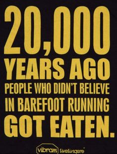 would you survive? #barefoot #running