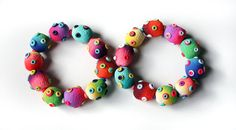 Polymer Clay Duo Bracelets Stomas by SilviaOrtizDeLaTorre on Etsy