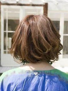 Digital Perm Pictures and Information: 360 SPIRAL PERM Korean Perm, Korean Bob, Curly Bob Hairstyles, Cool Hairstyles, Japanese Perm, Short Perm, Body Perm, Digital Perm, Wave Perm