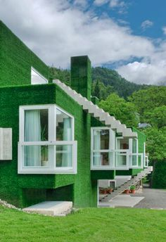 If It's Hip, It's Here: Crazy Astroturf Covered Concrete House In Austria