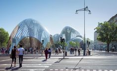 Image 1 of 14 from gallery of Utopia Arkitekter Proposes Public Park in Stockholm Shrouded in Glass. Photograph by Utopia Arkitekter