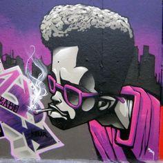 Graffiti Wall Art, Graffiti Drawing, Murals Street Art, 3d Street Art, Street Art Graffiti, Art Drawings, Graffiti Cartoons, Graffiti Characters, Arte Alien