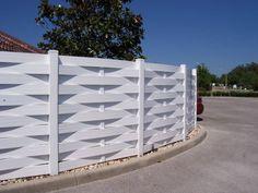 basket weave wood fence - Google Search