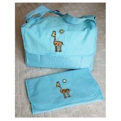 Sac à langer pour bébé girafe bleu    #cadeau #cadeaux #gift  #gifts #ideecadeau #petitsprix #pascher #anniversaire #fete #party #budget #noel