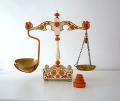 RUSTIC BALANCE SCALE Vintage kitchen balance by RedChiliPeppers, $350.00