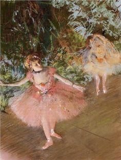 Dancer on Stage - Edgar Degas....I have loved Degas since I was a little girl.