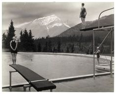Canadian Pacific Railway, Untitled [Swimming pool at Banff Springs Hotel, Alberta], September 1928, gelatin silver print.
