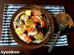 【簡単おすすめ!魚レシピ】鮭とじゃがいものこんがりマヨソース | 山本ゆりオフィシャルブログ「含み笑いのカフェごはん『syunkon』」Powered by Ameba