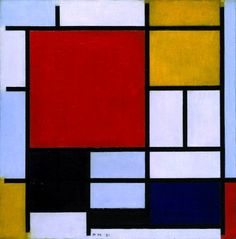 Piet Mondrian, Composition with Large Red Plane, Yellow, Black, Grey and Blue. 1921