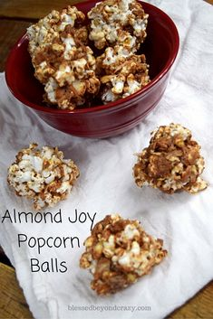 Almond Joy Popcorn Balls. These taste just like the candy bar! So ...