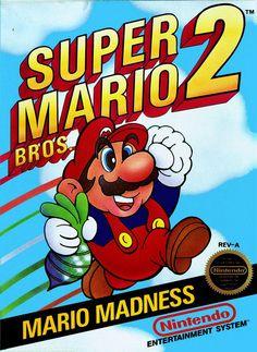 Super Mario Bros 2 NES 18 x 24 Video Game Poster by kitschaus Super Mario Bros, Super Mario Brothers, Super Mario All Stars, Vintage Video Games, Classic Video Games, Retro Video Games, Retro Games, Vintage Games, Original Nintendo