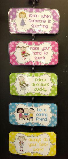 Classroom Rules http://www.teacherspayteachers.com/Product/Polka-Dot-Classroom-Rules-Editable-565596