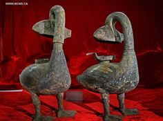 Archaeologists Discover 2,000-Year-Old Smoke Absorbing Lamps in Chinese Tomb. #china