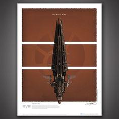 EVE! EVE Online Battlecruisers Art Print Set - Hurricane – Quantum Mechanix