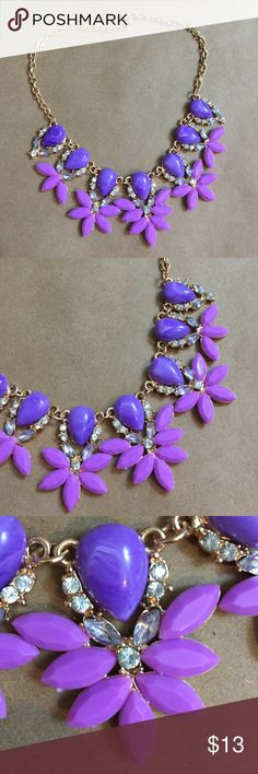 Purple Statement Necklace This is an awesome purple, silver, and gold statement necklace Jewelry Necklaces