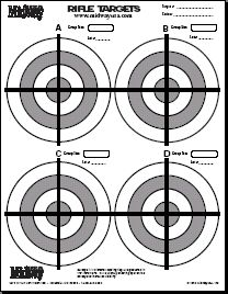 Free printable pistol and rifle targets