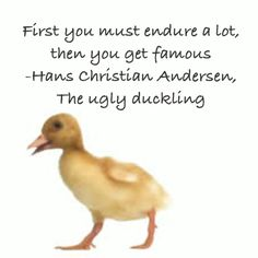 From the ugly duckling