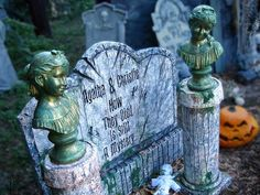 DIY Faux stone columns - Dress up your graveyard with faux stone columns to support weary looking busts or gargoyles.