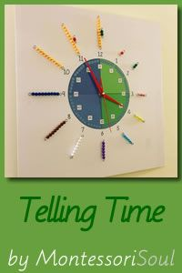 Telling time - MontessoriSoul - Montessori materials available for Free