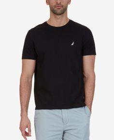 Nautica Men's Big & Tall Slim-Fit Cotton T-Shirt - Black 2XLT