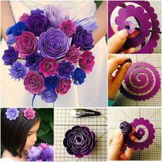 How to DIY Beautiful Wedding Flower Bouquet from Template | www.FabArtDIY.com LIKE Us on Facebook ==> https://www.facebook.com/FabArtDIY